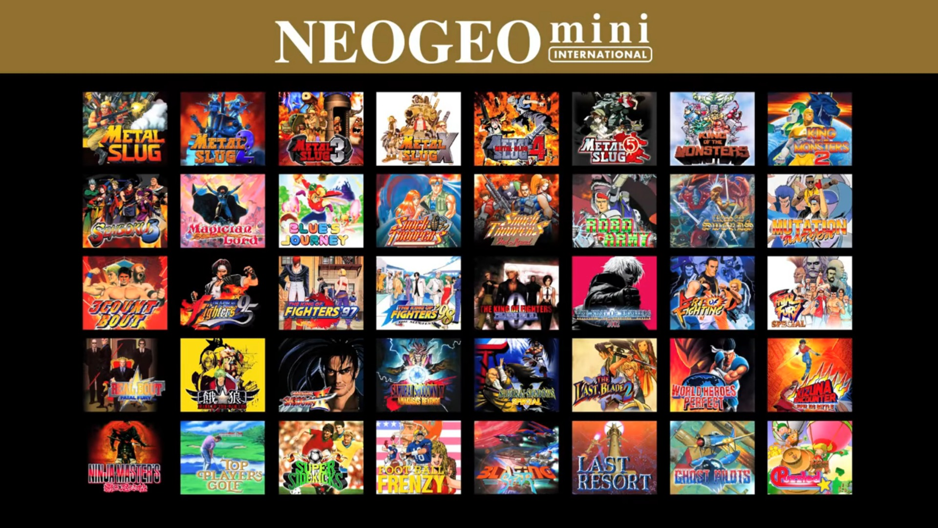NEOGEO mini インターナショナル版